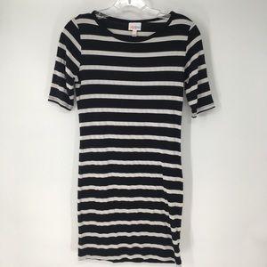 LuLaRoe Black & White Striped Dress